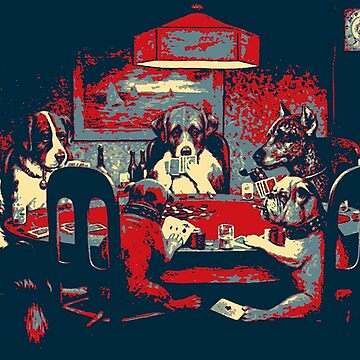 Masterpieces Revisited - Dogs Playing Poker - A Friend in Need by C. M. Coolidge by Captain7