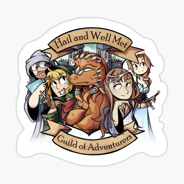 Hail and Well Met - Logo (2) Sticker