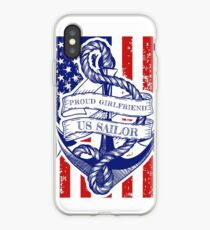 Proud Girlfriend of a US Sailor Distressed Shirt iPhone Case