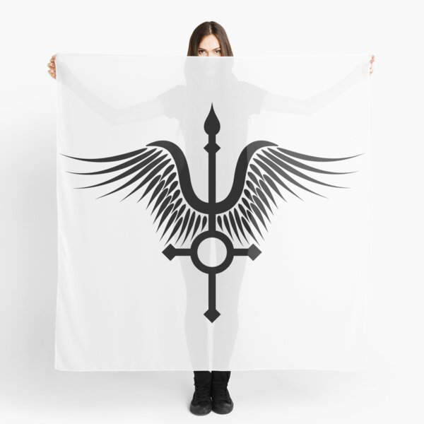 Feather Cross (in black) Scarf