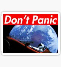 Don't Panic - Tesla Space X Sticker