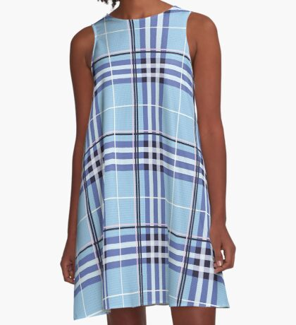 AFE Blue Tartan A-Line Dress