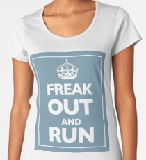 Keep Calm and Carry On Parody Blue Women's Premium T-Shirt