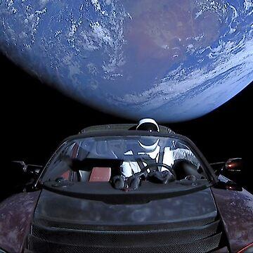 Falcon Heavy Launch - Star Man by lurchmerch