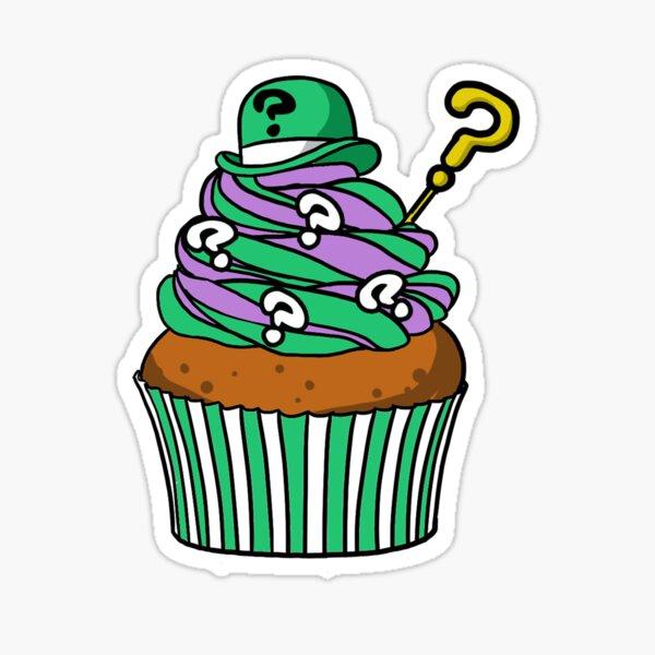 Riddler Cupcake Sticker