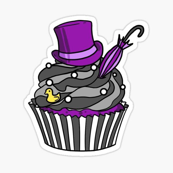 Penguin Cupcake Sticker
