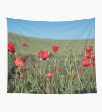 Poppy Photography Print Wall Tapestry