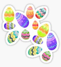 Easter Eggs , Easter Egg Bombs Sticker