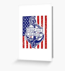 Proud Aunt of a Us Navy Sailor Distressed Shirt Greeting Card