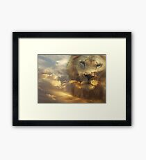 The Lion of the tribe of Judah has prevailed! Framed Print