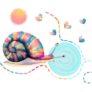 Rainbow Snail Trail by karin