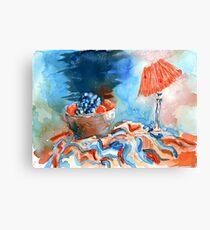 Blue & Orange Canvas Print