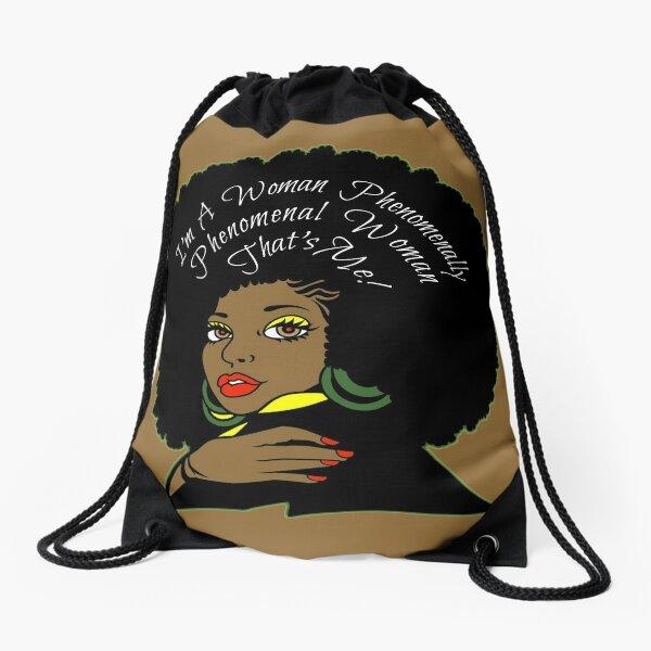 Phenomenal Woman Home Decor Drawstring Bag