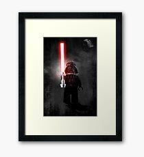 Darth Vader - Star wars lego digital art.  Framed Print