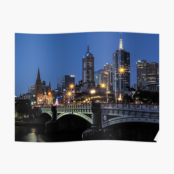 STARS FOR MELBOURNE AT NIGHT Poster