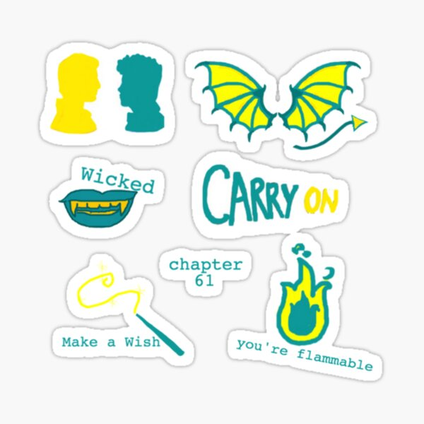 Carry On Rainbow Rowell Snowbaz Stickers Sticker