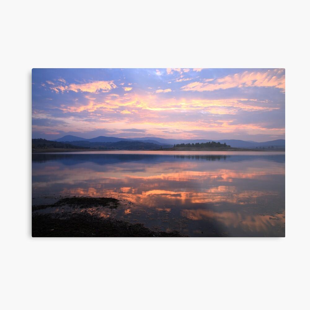 Lake Jindabyne Sunset, Australia Metal Print