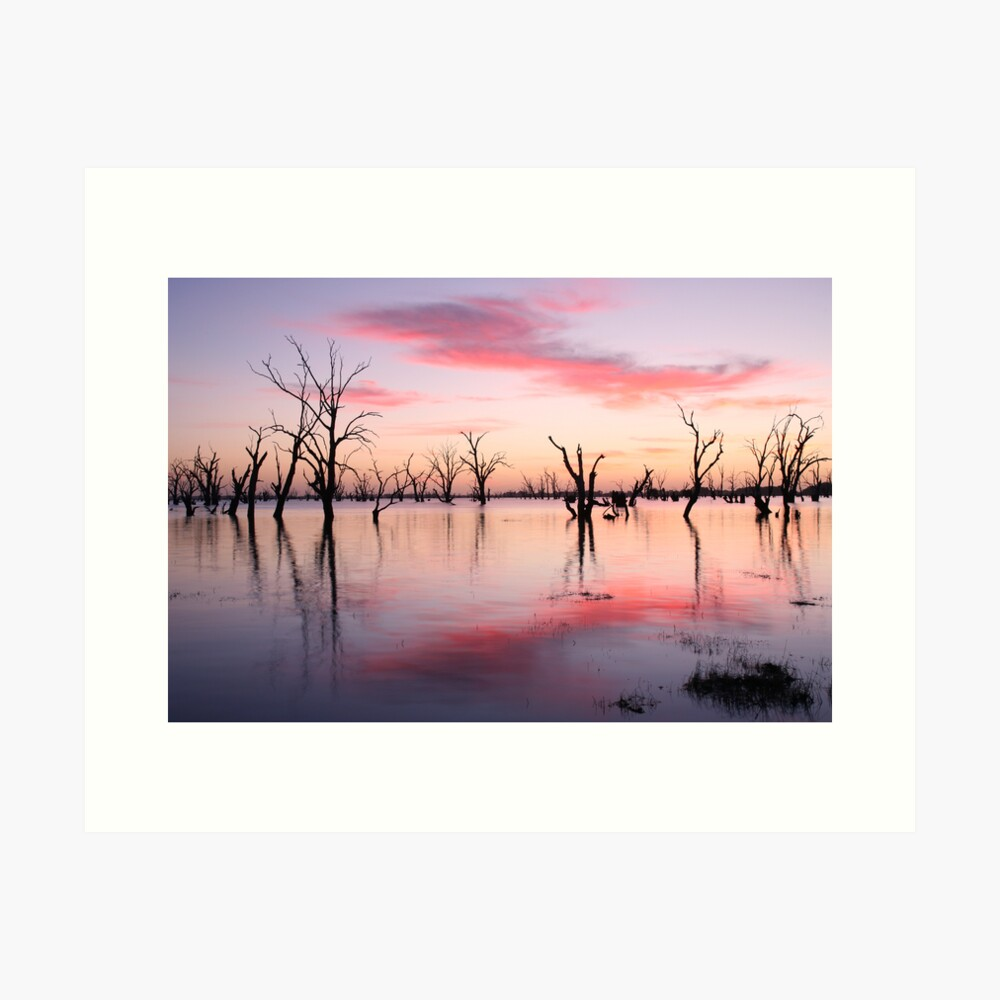 Lake Victoria Dawn, Australia Art Print