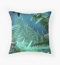 Ghost Fossil Subnautica Throw Pillow