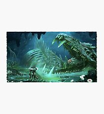 Ghost Fossil Subnautica Photographic Print