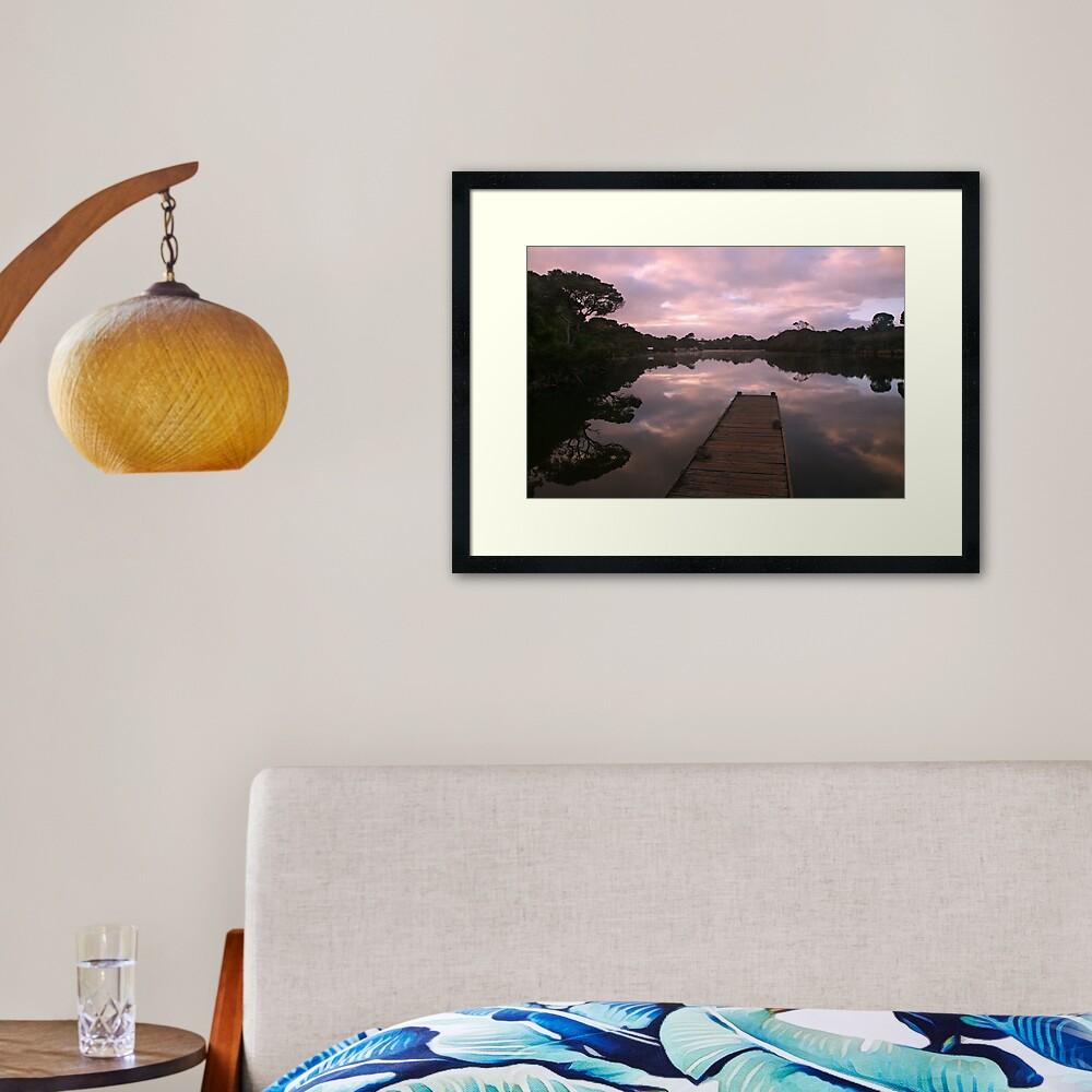 Glenelg River Awakens, Australia Framed Art Print