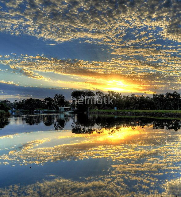 """ Sunrise on the Brodribb River Marlo Vic "" by helmutk"