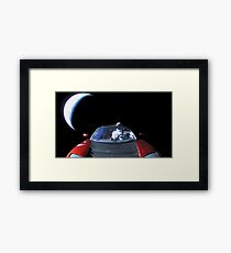 Spacex Starman In Space Framed Print