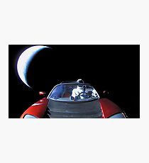 Spacex Starman In Space Photographic Print