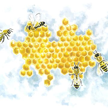 Honey bees on a rainy day by Penny-Farthing