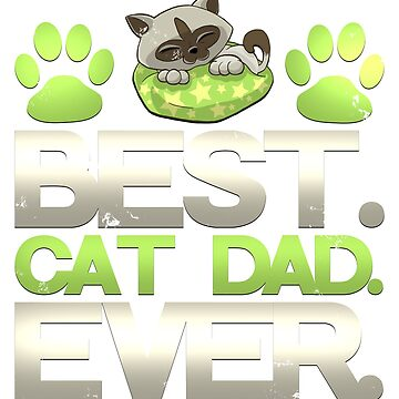 Awesome Best Cat Dad Ever Kitty Lover T-Shirt by merchbrigade