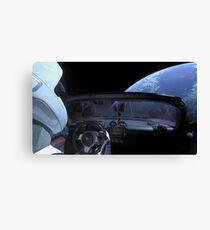 Spacex DON'T PANIC Starman Canvas Print