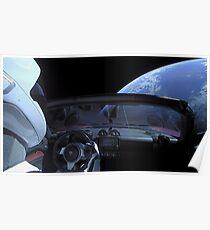 Spacex Panik nicht Starman Poster