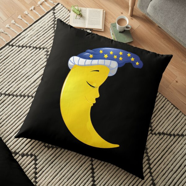 Cute Sleeping Moon Floor Pillow
