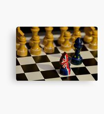 chess Great Britain and the European Union confrontation Canvas Print