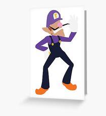 Waluigi   Nintendo Mario Greeting Card