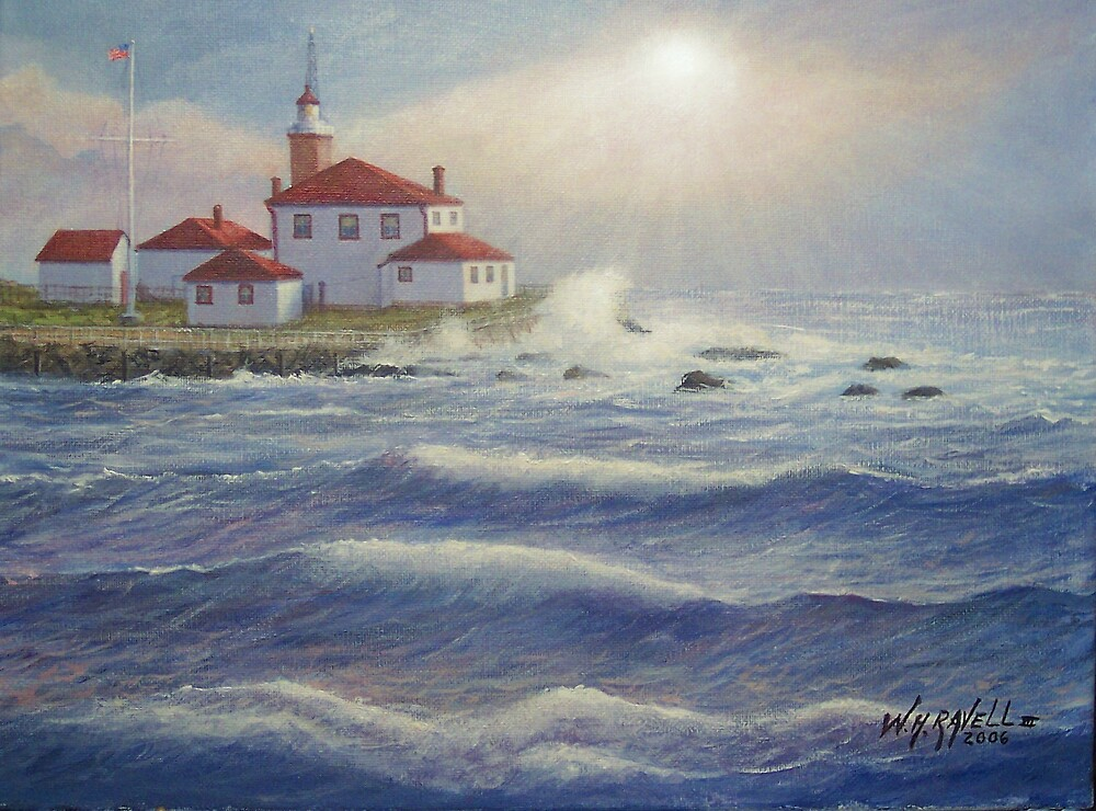 Watch Hill Light House, RI by William H. RaVell III