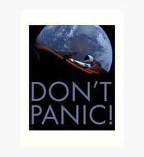 Spacex DON'T PANIC Art Print