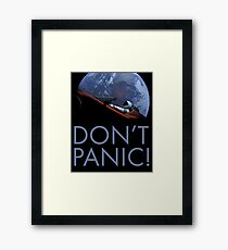 Spacex DON'T PANIC Framed Print