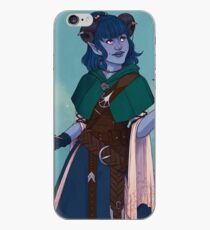 Just a little blue tiefling iPhone Case
