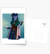 Just a little blue tiefling Postcards
