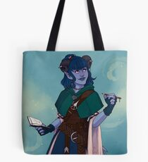 Just a little blue tiefling Tote Bag
