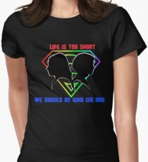 sanvers-life is too short Women's Fitted T-Shirt