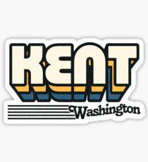 Kent, Washington   Retro Stripes Sticker