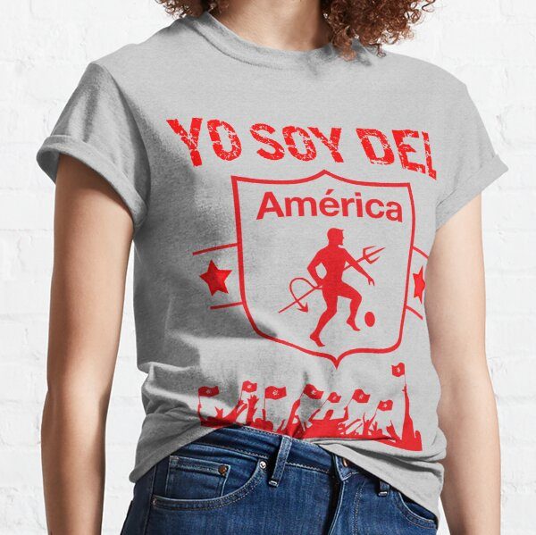 America de Cali Colombia Futbol Camiseta Jersey Camiseta Camiseta clásica