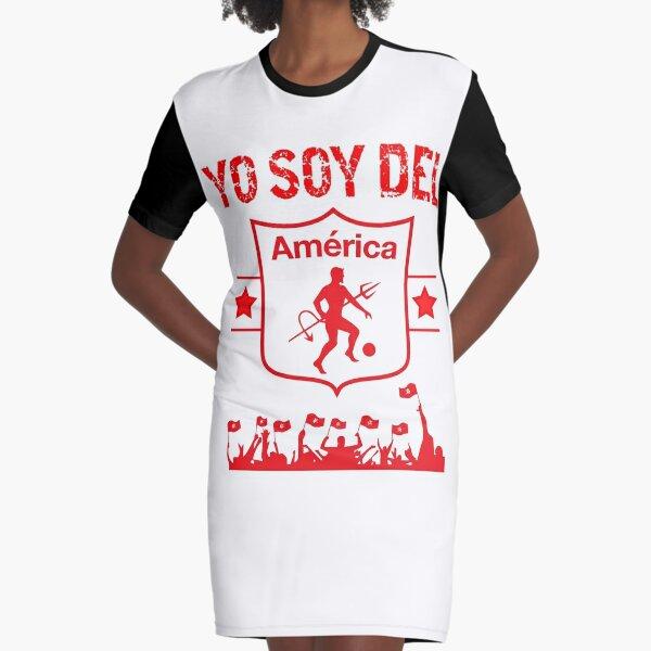 America de Cali Colombia Futbol Camiseta Jersey Camiseta Vestido camiseta