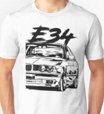 E34 & quot; Dirty Style & quot; Slim Fit T-Shirt