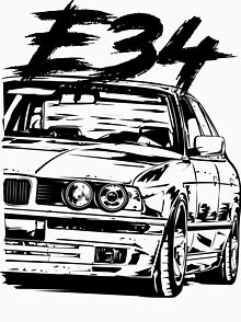 bmw e34 drawing gifts merchandise redbubble BMW M1