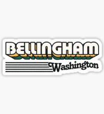 Bellingham, Washington | Retro Stripes Sticker