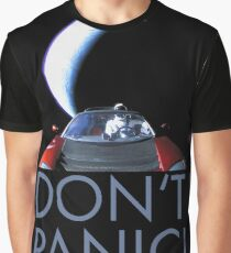 Spacex Starman DON'T PANIC Graphic T-Shirt