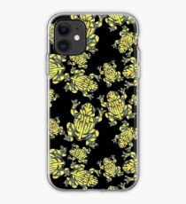 Lino Print Corroboree Frog  iPhone Case